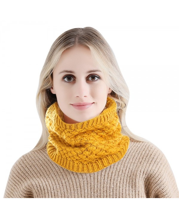 Solid Color Knitted Scarf Headgear Dual Purpose Hat
