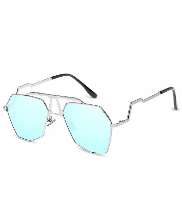 Geometric Metal Frame Sunglasses Unisex