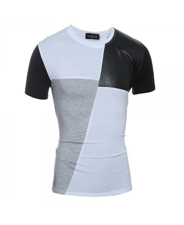New Fashion Mixed Colors Men's Casual Slim Short-Sleeved Round Neck T-Shirt