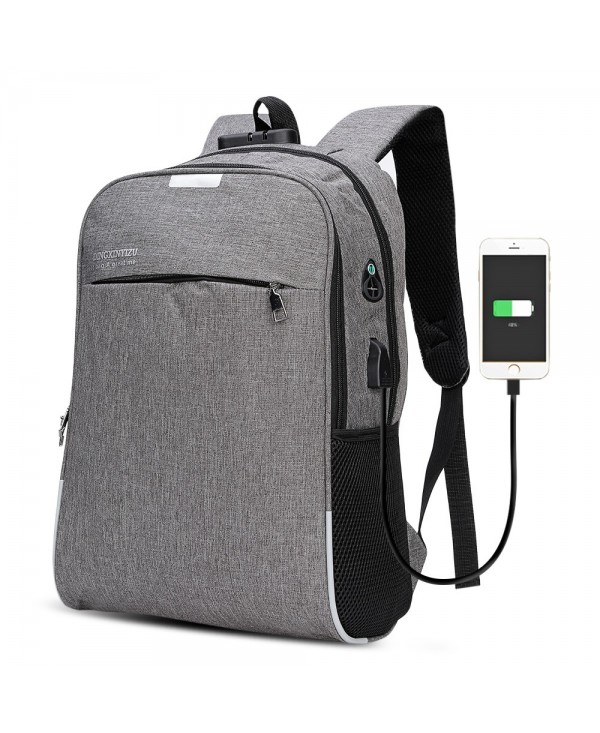 DINGXINYIZU USB Charging Bag Night Reflection Anti-theft Backpack