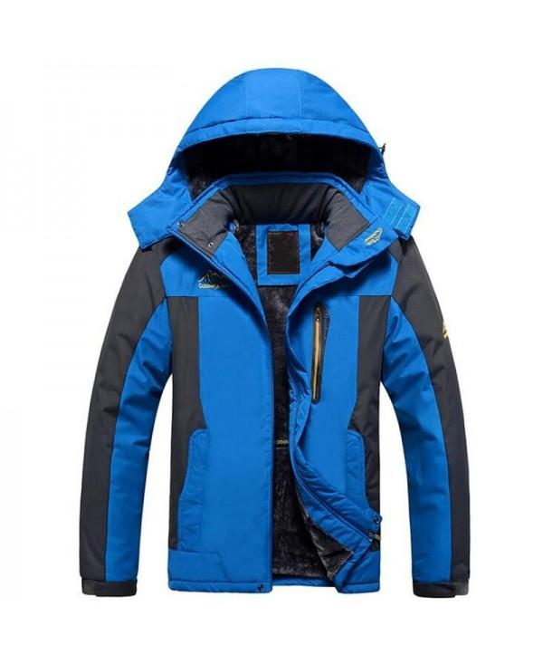 Plus Size Men's Snow Windproof Waterproof Ski Winter Mountain Fleece Jacket