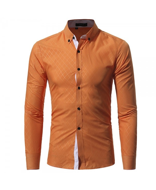 New Umber Lingge Men's Casual Slim Shirt