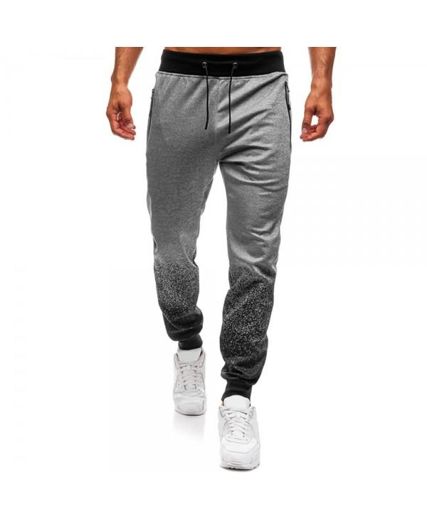 Sports Bottom Gradient Spot Ink Print Jogger Pants
