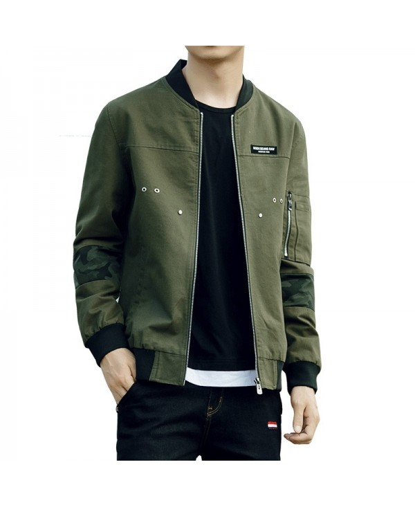Men'S Slim Autumn Winter Washed Cotton Jacket