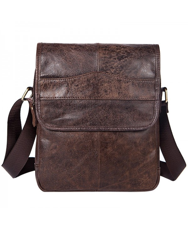 MVAPE Classic Leather Portable Crossbody Bag for Men
