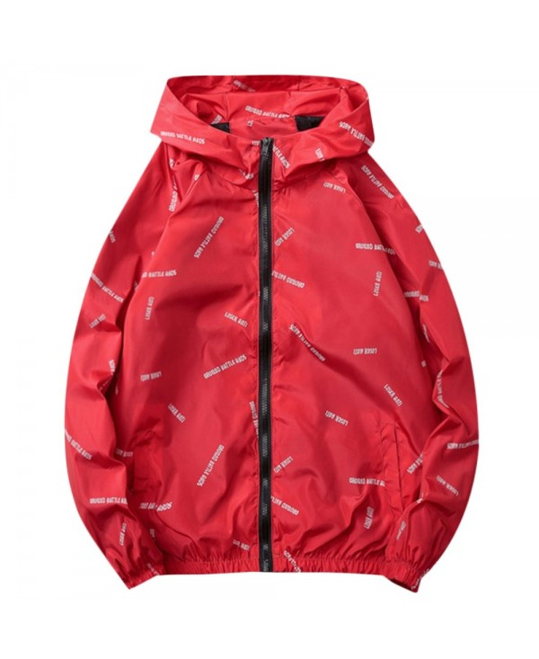 Letter Printed Quick Dry Zipper Jacket