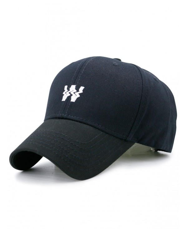Distorted W Shape Embroidery Baseball Dad's Hat