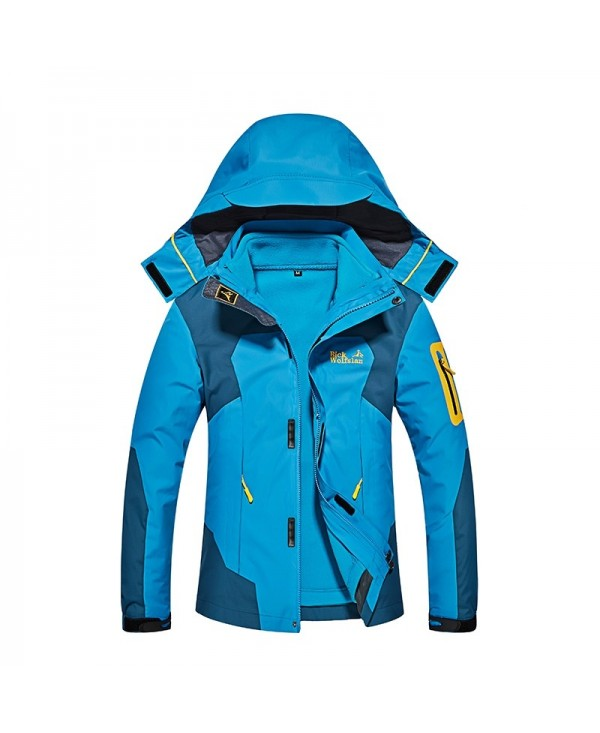 Ladies Outdoor Fashion Hooded Waterproof Thickened Warm Two Piece Punch Jacket
