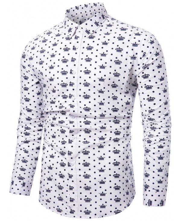 Button Up Crown Print Shirt