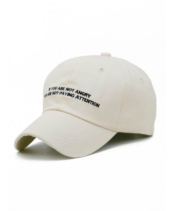 Letter Sentence Embroidery Adjustable Baseball Cap