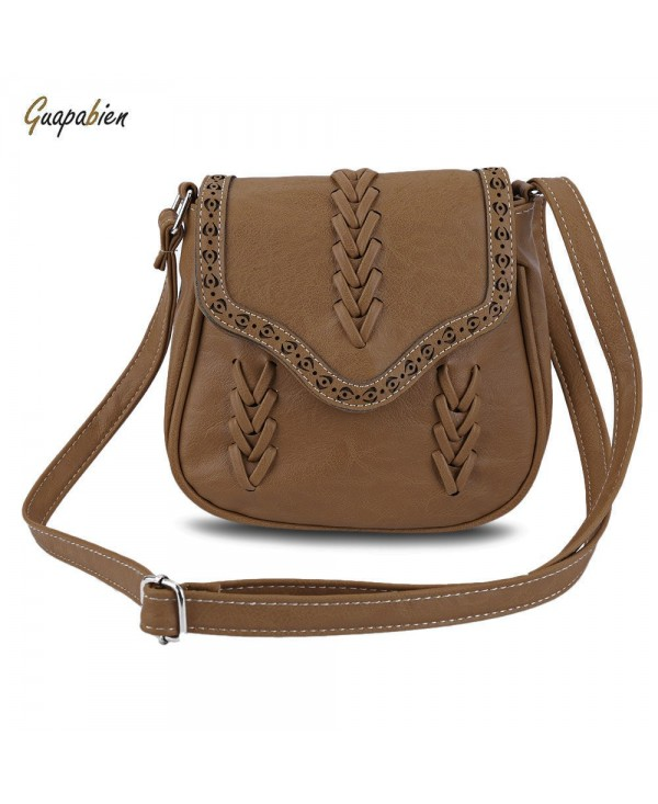 Guapabien Trendy Knitting Diagonal Package Hollow Shoulder Bag for Ladies