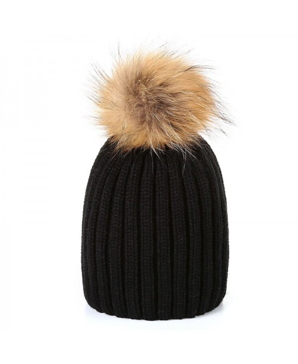Unisex Child Baby Kids Boy and Girl Beanie Hat Winter Warmer Fur Cap