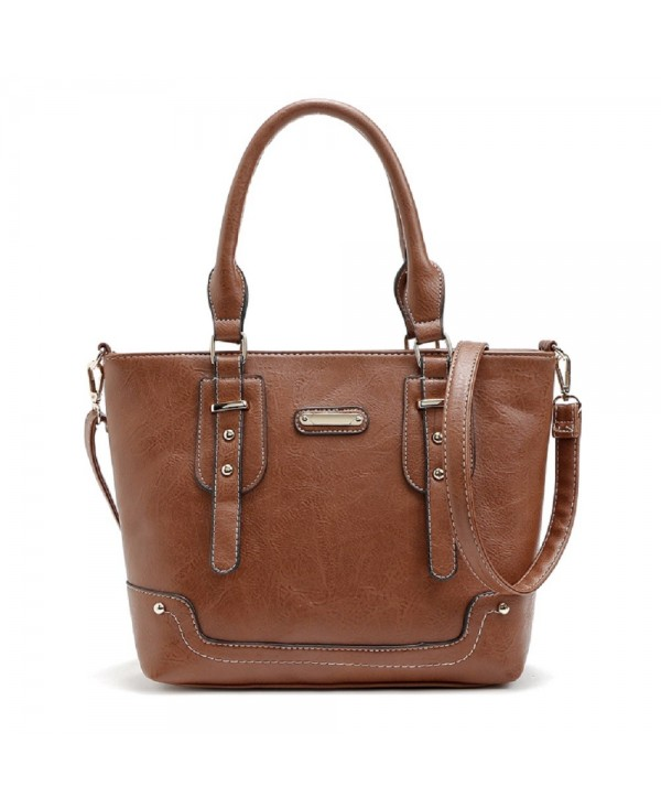 Solid Color Studs Tote Bag