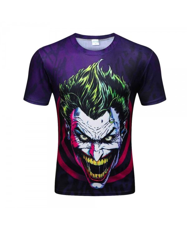 Summer Men's Short Sleeve Digital Print Clown 3D Loose T-Shirt