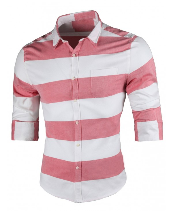 Long Sleeve Casual Striped Shirt