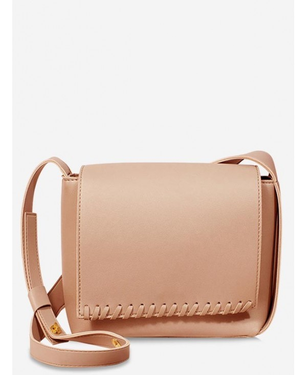 Whipstitch Flapped Chic Minimalist Crossbody Bag