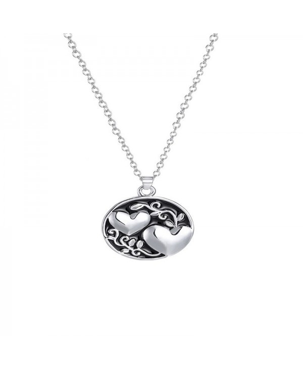 Leisure Fashion Ladies Double Sister Tree Necklace