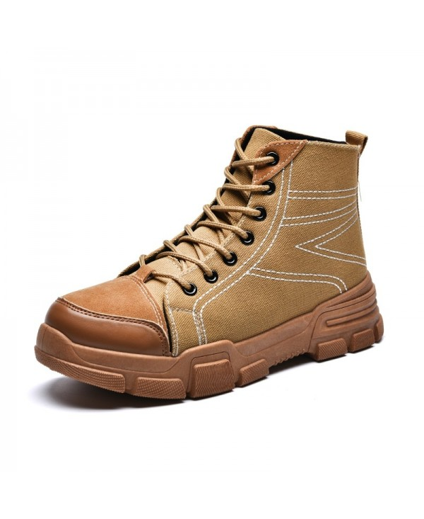 ZEACAVA Men's Outdoor Plus Cotton Canvas Boots