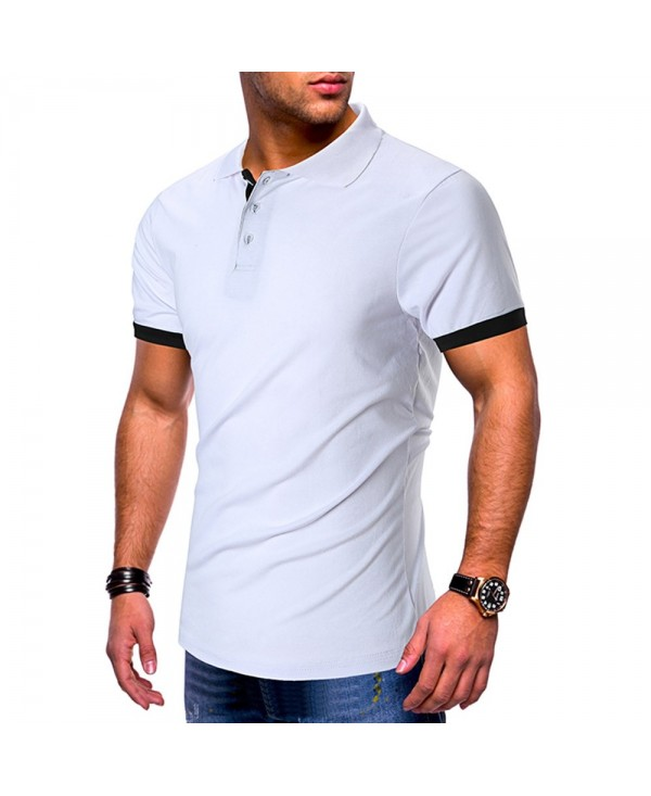 Color Blocking Short Sleeve Casual T-shirt