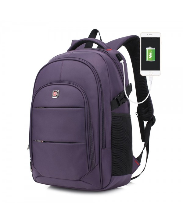 AUGUR Men Travel Backpack 17 inch Laptop USB Port Women Student Bag