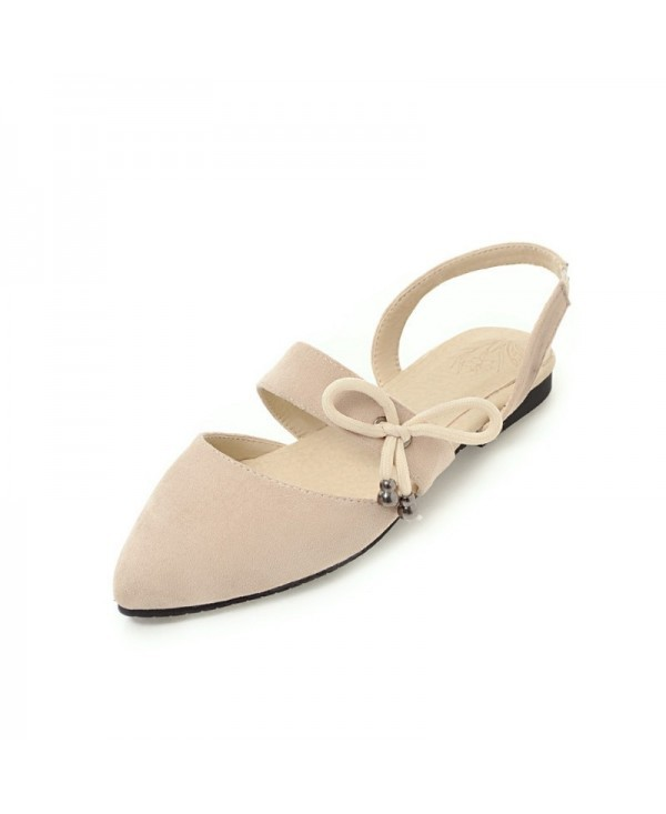 Comfortable Sweet Bow Shaped Pointed Flat Sandals