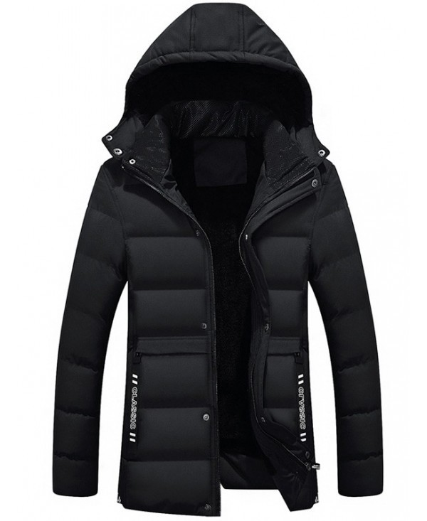 Belt Embellished Zipper Hooded Padded Jacket