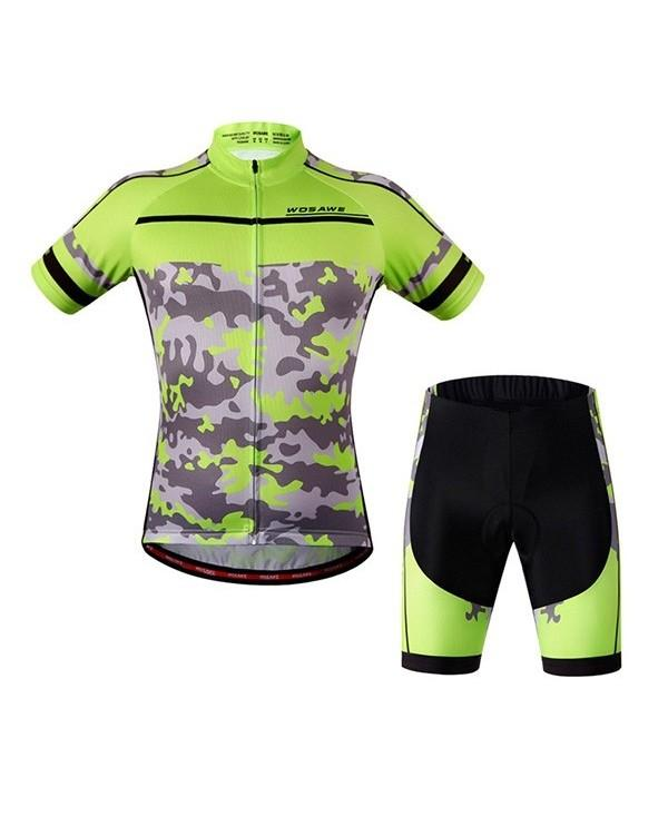 Good Quality Outdoor Short Sleeves Camouflage Pattern Cycling Suits For Unisex