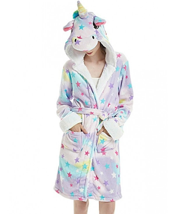 Unicorn Rainbow Print Faux Fur Sleeping Robe