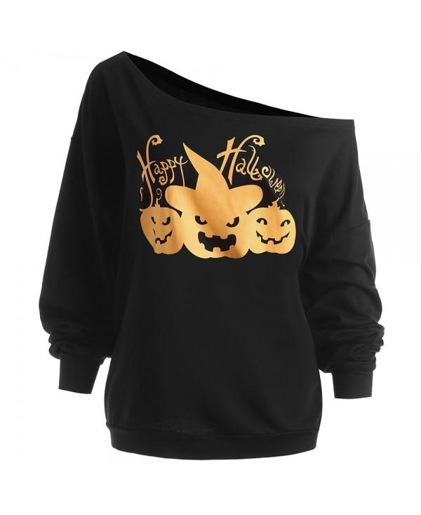 Plus Size Happy Halloween Pumpkin Sweatshirt