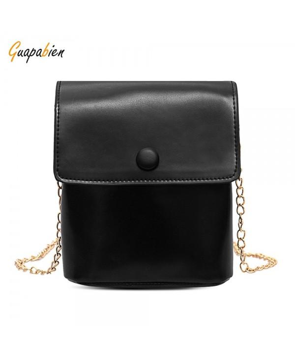 Guapabien PU Leather Metal Chain Single Shoulder Crossbody Women Bag