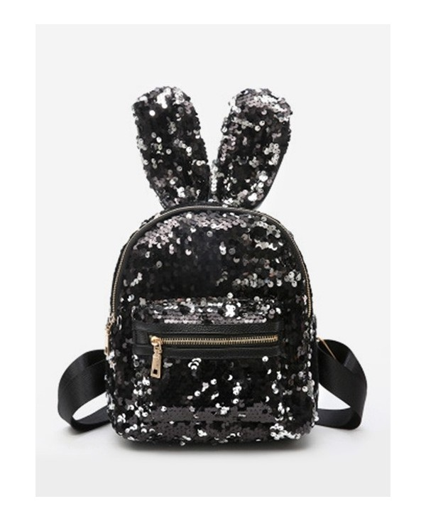 Rabbit Ear Sequined Mini Backpack