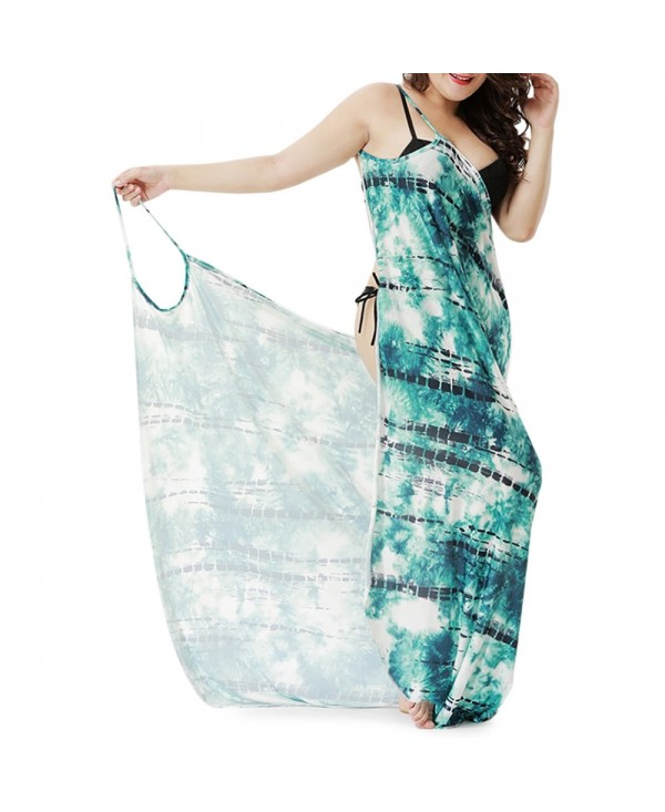 Tie Dye Plus Size Convertible Cover Up