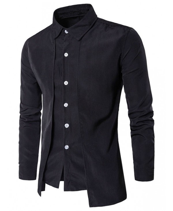 Long Sleeve False Two-piece Shirt