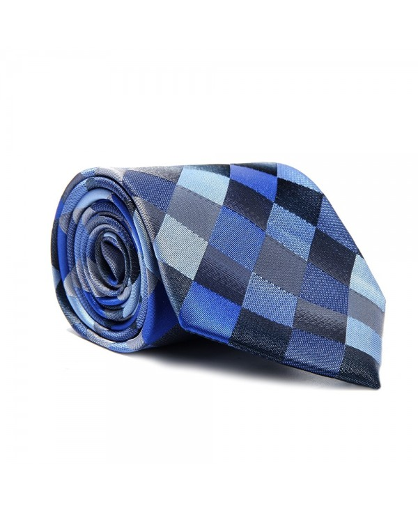 Fashion Men's Accessories Business Necktie Rhombus Lattice All Match Classic Tie