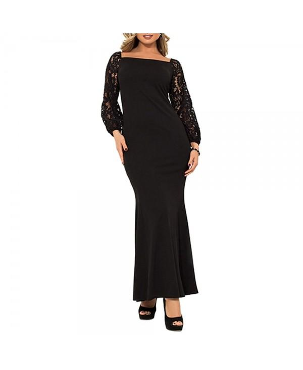 2019 New Women'S Evening Dress Large Size Long Dress
