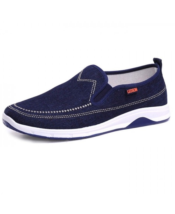 Leisure Breathable Slip-on Canvas Flat Shoes for Men