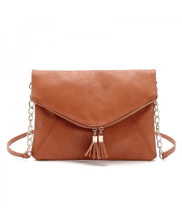 Women Messenger Bag Tassel Fold Cover Sling Girl Shoulder Crossbody Bag Envelope Bolsas Ladies Handbag Clutches