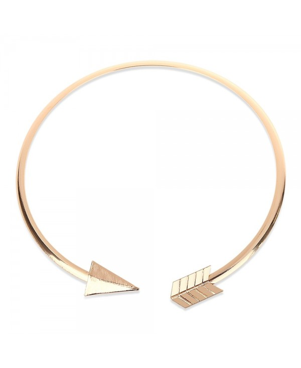 Fashionable Arrow Design Geometric Round Triangle Women Choker Necklace