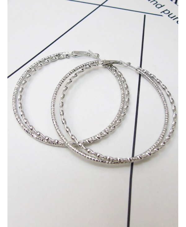Hemp Flower Hollow Big Hoop Earrings