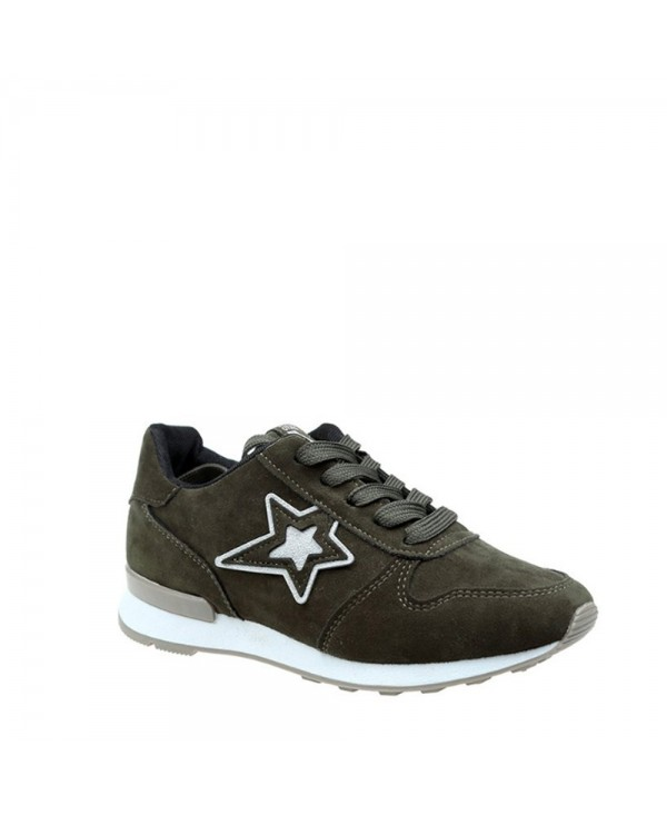 Star Pattern Solid Color Sport Shoes