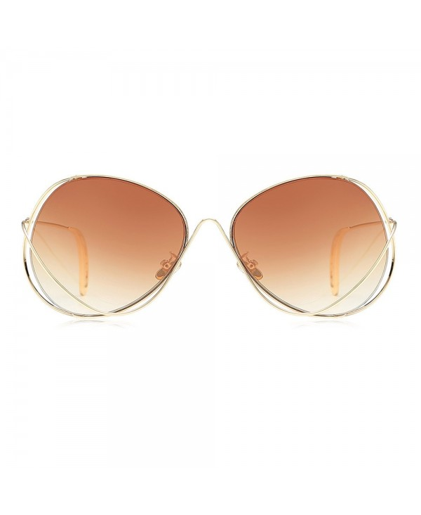 UV400 Novel Metal Frame Oversize Colored Lens Sunglasses for Women Men