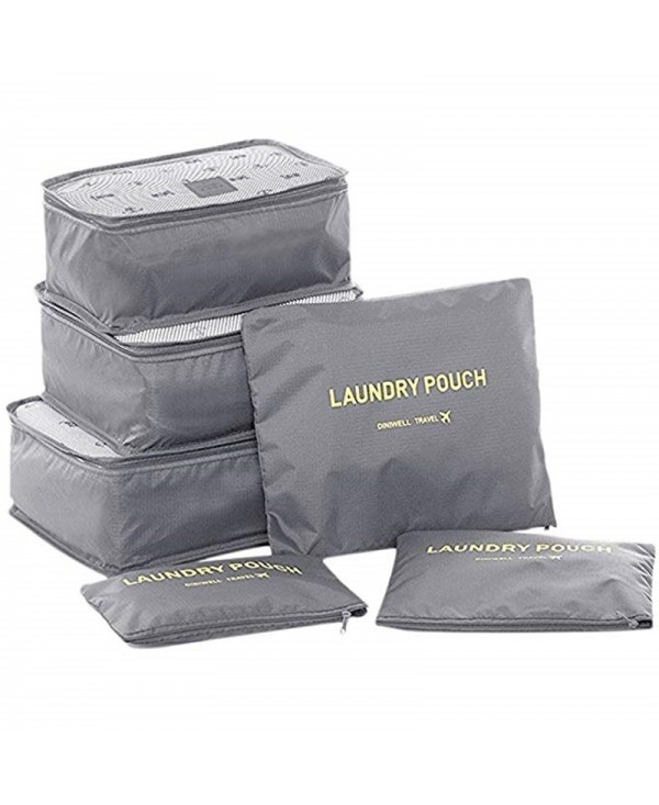 Travel Packing Cube Luggage Compression Pouches Laundry Toiletry Storage 6pcs