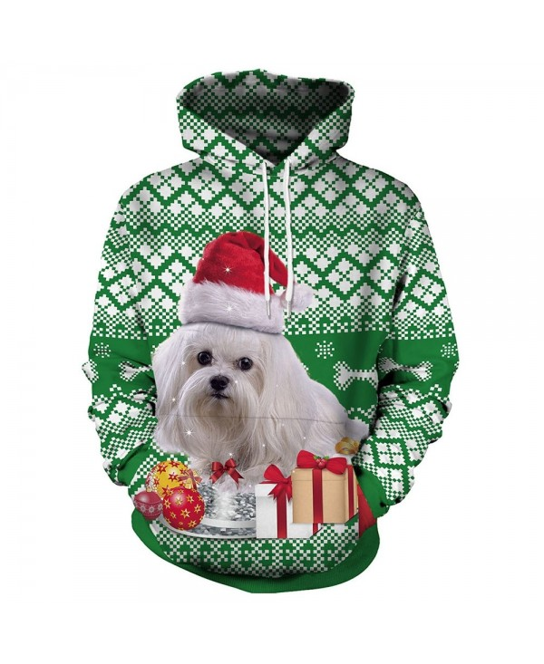 Christmas Dog Gift Print Pullover Hoodie