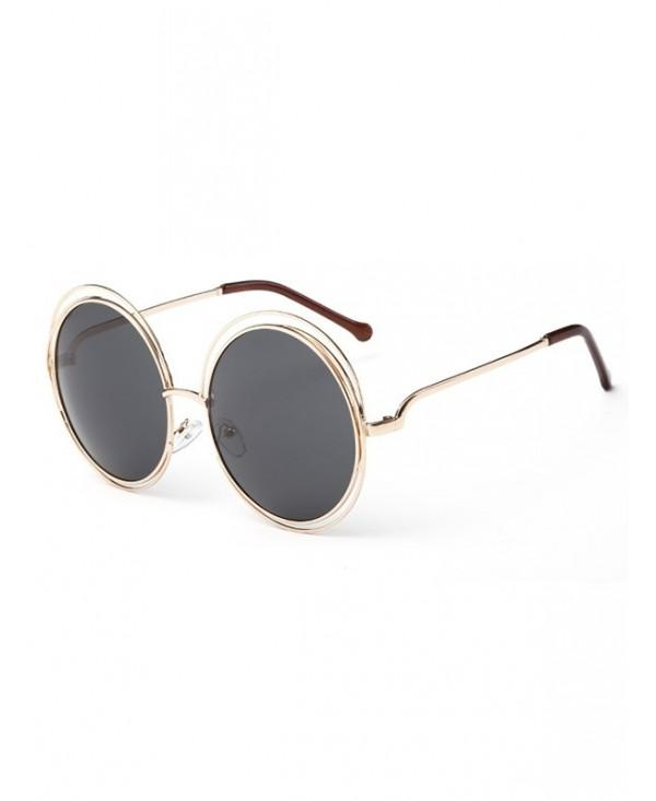 Unique Hollow Out Frame Round Sunglasses