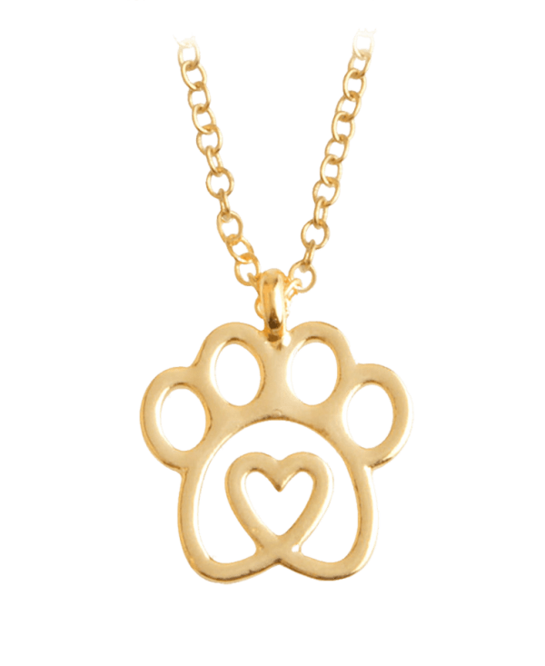 Heart Claw Footprint Pet Pendant Necklace