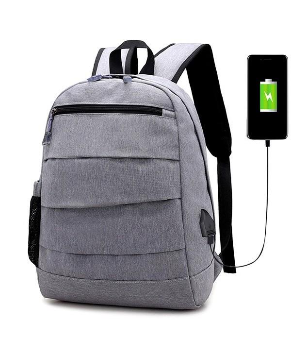 Side Pocket USB Charging Port Backpack