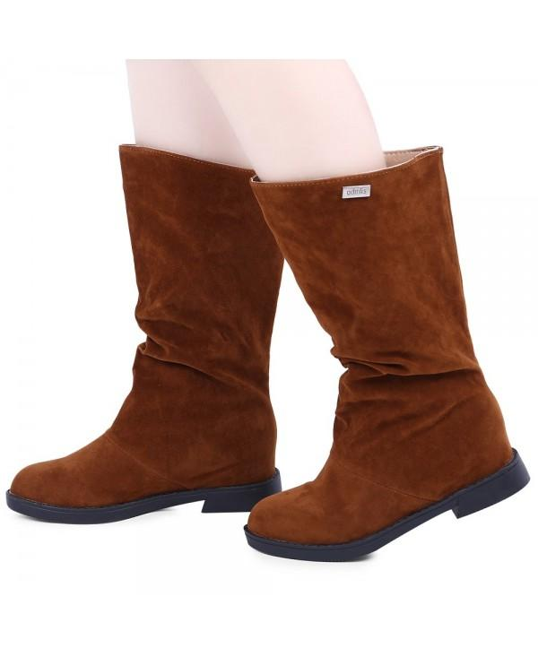 Graceful Solid Color Flat Sole Ladies High Leg Boots