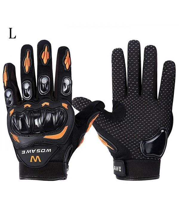 WOSAWE BST-015 Men Women Polyester Fiber Full Finger Motorcycle Glove Motorbike Motocross Breathability Protective Gears