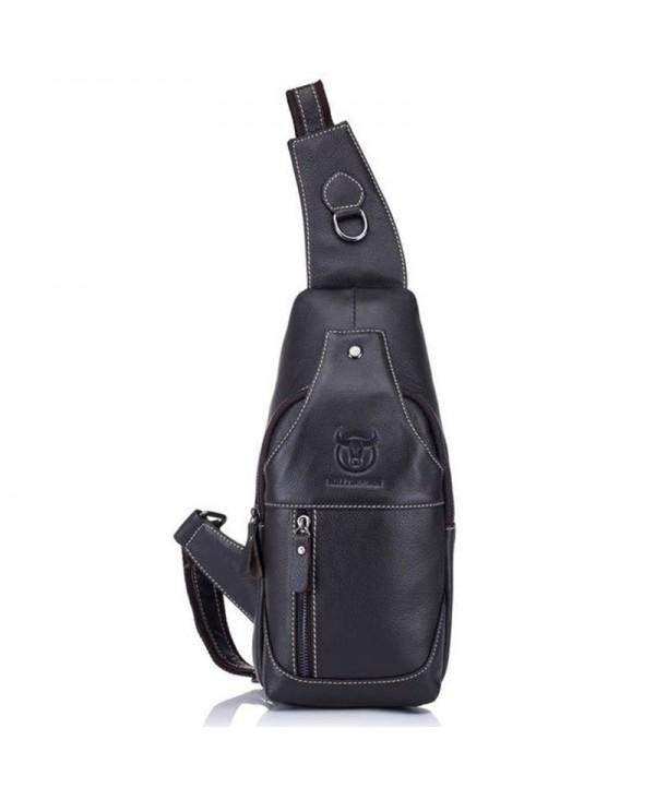 Fashion Genuine Leather Crossbody Bags Men Casual Messenger Shoulder Bag