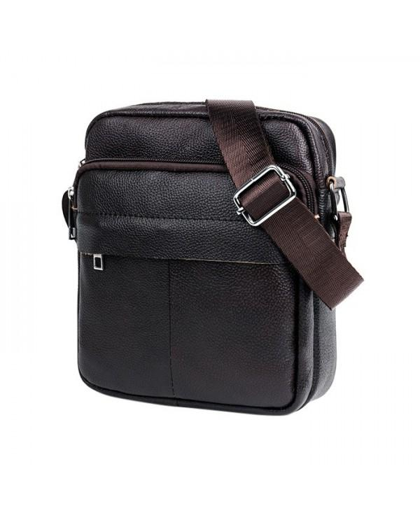BULLCAPTAIN Leisure Leather Water-resistant Messenger Bag for Men